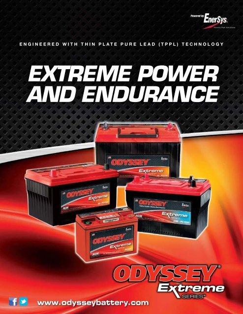 Batterie /à Double Emploi Odyssey PC1100 Extreme Series