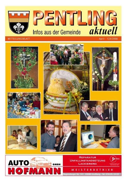 MITTEILUNGSBLATT April · 124/2008 - Pentling aktuell