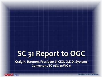 JTC 1/SC 31 relevance to IoT - OGC Network