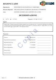 Determinazione n. A07776 del 27/07/2012 ... - Regione Lazio