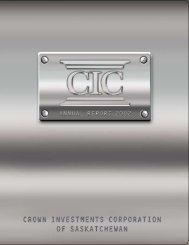 2002 Crown Investments Corporation of Saskatchewan Annual Report