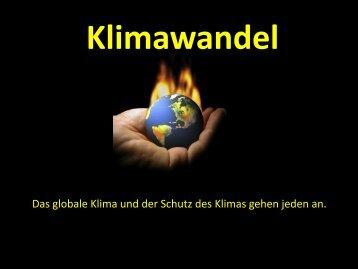 Vortrag Klimawandel und globale Erwärmung - Zeichen setzen!