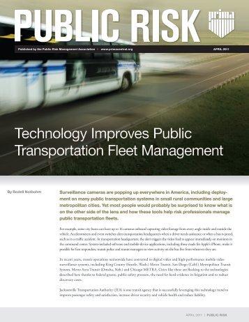 Technology Improves Public Transportation Fleet Management
