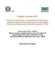 Presentazione progetto APAT99 - ARPA Umbria