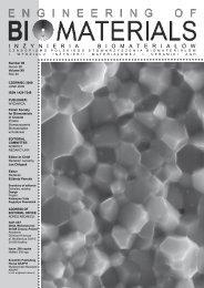86 - Polskie Stowarzyszenie Biomateriałów