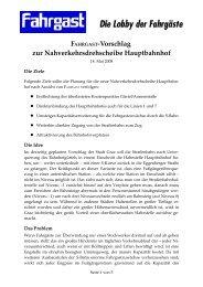 FAHRGAST-Vorschlag zur Nahverkehrsdrehscheibe Hauptbahnhof