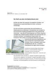 Download Pressetext (PDF, 197 kb) -  SEFAR