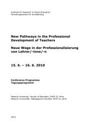 New Pathways in the Professional Development of Teachers Neue ...