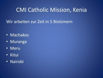 Bildung - CMI-KENIA-MISSION