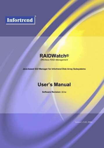 RAIDWatch User's Manual