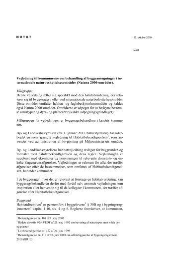 vejledning om habitatdirektiv 291010 - Erhvervsstyrelsen