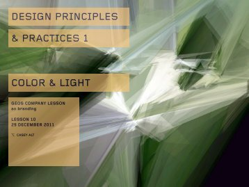 DESIGN PRINCIPLES & PRACTICES 1 COLOR & LIGHT - Users