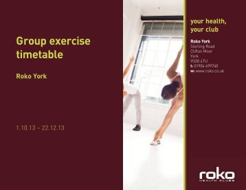 group exercise timetable