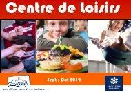 plaquette centre de loisirs sept oct 2012 - Gruissan