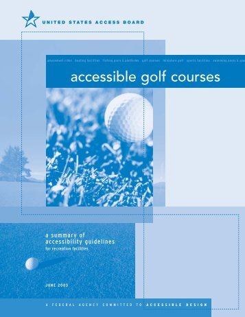 accessible golf courses - United States Access Board