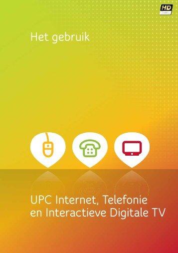 Gebruiksaanwijzing UPC Internet, Bellen & Digitale TV