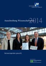 Ausschreibung Wissenschaftspreis 2014 - Marketing-Club Trier ...