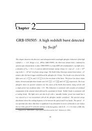 Chapter 2 GRB 050505: A high redshift burst detected by Swift