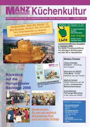 Rückblick auf die Herrgottstaler Backtage 2006 - MANZ Backtechnik ...