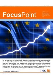 FocusPoint Teil 2 (PDF) - ING High Yield Strategien