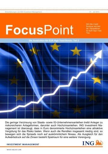 FocusPoint Teil 2 (PDF) - ING High Yield Strategien