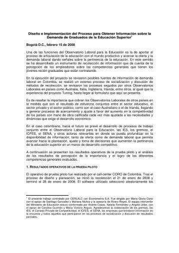 Resumen ejecutivo (pdf) - Observatorio Laboral para la Educación