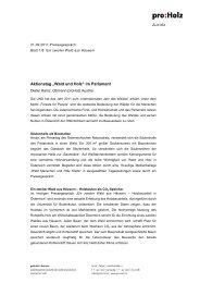 110920 Pressetext - proHolz
