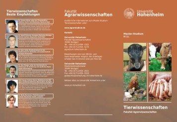 Tierwissenschaften - STUDIUM