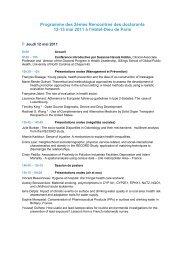 Les 2èmes Rencontres de l'Hôtel-Dieu organisées par le ... - EHESP