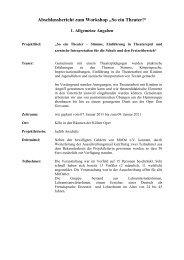 Abschlussbericht für Homepage zum Workshop - MitOst e.V.