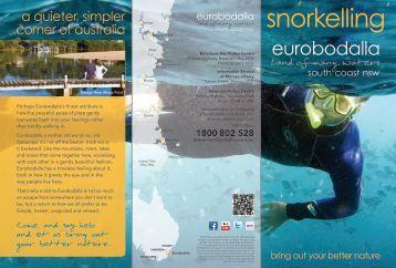 Snorkelling in Eurobodalla 3.7 MB PDF