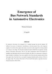 Emergence of Bus-Network Standards in ... - Thomas Komarek