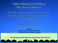 TRI Winter Webinar Slides - ChemicalRight2Know
