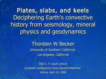 Flow model - USC Geodynamics - University of Southern California