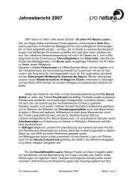 Jahresbericht 2007 - Pro Natura Luzern