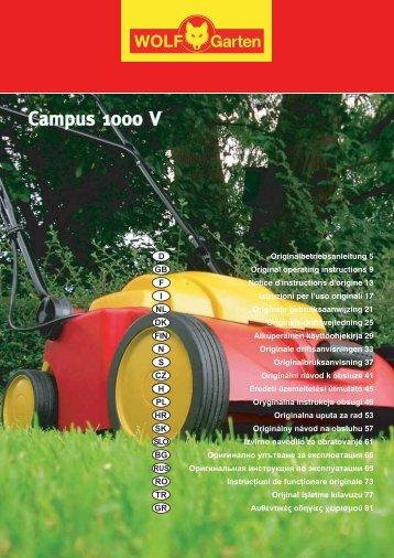 Campus 1000 V Campus 1000 V - wolf-garden.pl