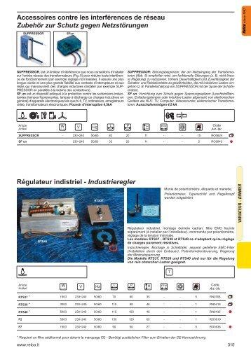 RTM65D.. Beleuchtungsregler mit Eingebauter ... - Relco