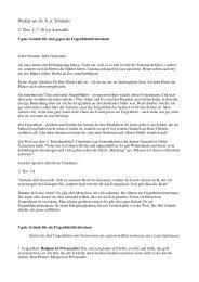 Predigt am 16. S. n. Trinitatis 2. Tim. 1, 7-10 (in Auswahl)