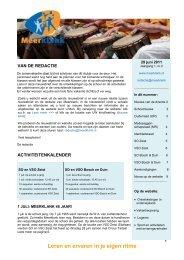 Digitale nieuwsbrief nr. 2 (juni 2011) - Meerklank