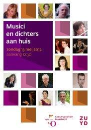Musici en dichters aan huis - Conservatorium Maastricht