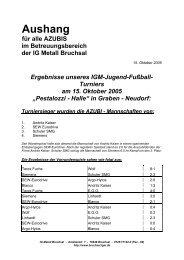 Aushang - IG Metall Bruchsal