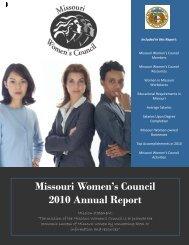 September 2010 Women's Edition Missouri Women's Council 2010 ...