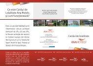 Ce este Cardul de Loialitate Ana Hotels