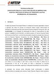 comunicado da convocação pública 02/2012 - Artesp