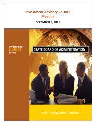 Agenda and Meeting Items - Florida State Board of Administration