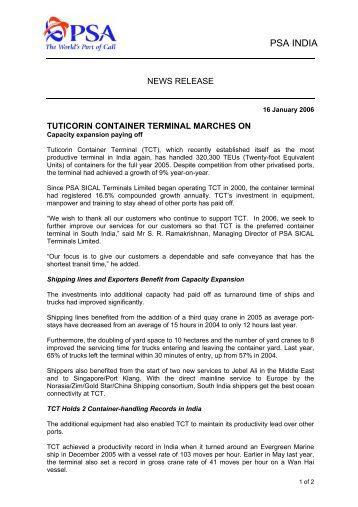 Tuticorin port trust tenders dating 1