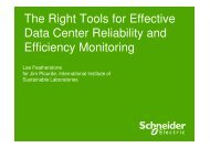The Right Tools for Effective Data Center ... - Energy Efficiency