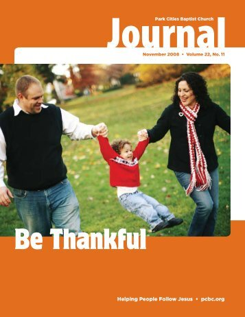 Be Thankful - Park Cities Baptist Church