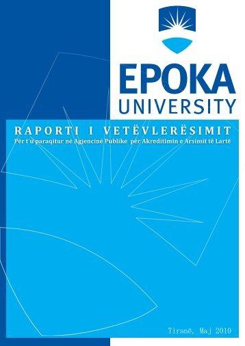 Ekipi i Vetëvlerësimit - Epoka University