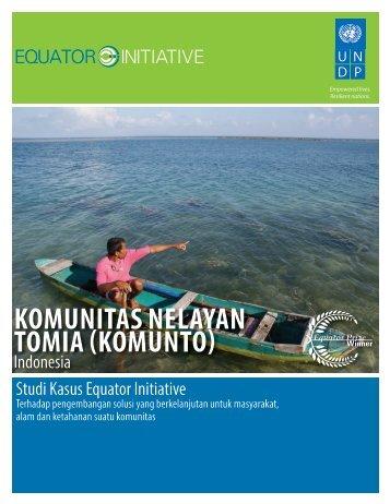 KOMUNITAS NELAYAN TOMIA (KOMUNTO) - Equator Initiative